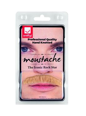Blonde Iconic Rock Star Moustache - Back View