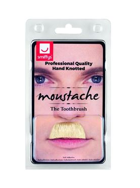 Blonde Toothbrush Moustache - Back View