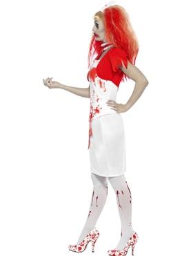 Adult Blood Drip Nurse Costume - Back View