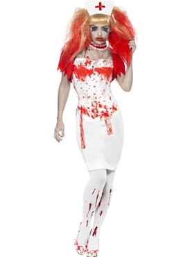 Adult Blood Drip Nurse Costume Couples Costume