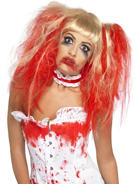 Blood Drip Nurse Wig