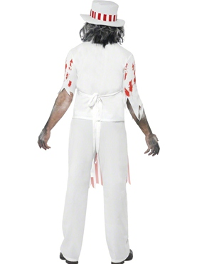 Adult Bloody Butcher Costume - Side View