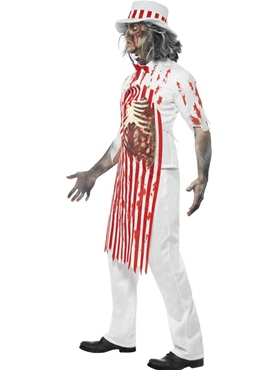 Adult Bloody Butcher Costume - Back View