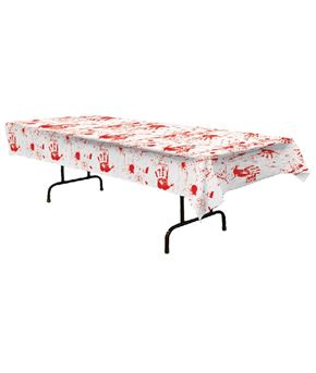 Bloody Handprint Table Cover