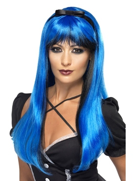 Blue and Black Bewitching Wig