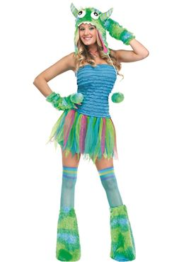 Adult Blue Beastie Costume