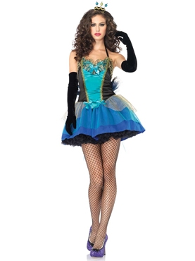 Blue Beauty Peacock Costume