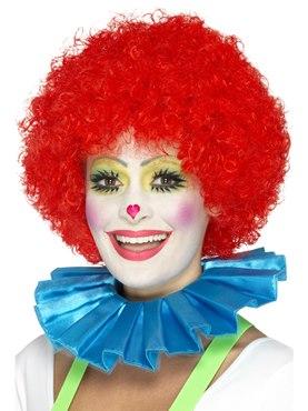 Blue Clown Neck Ruffle