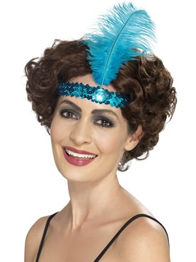 Blue Flapper Headband