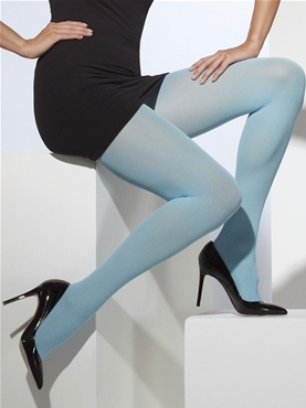Fever Blue Opaque Tights - Back View