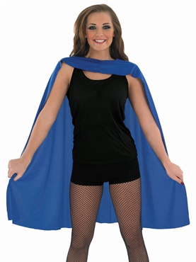 Adult Ladies Blue Super Hero Cape
