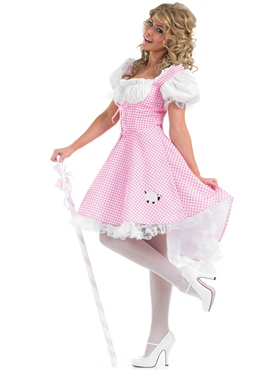 Adult Bo Peep Long Costume - Back View