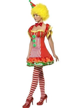 Adult Boo Boo the Clown Ladies Costume - Back View