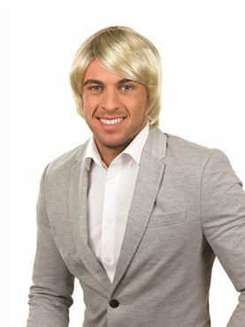 Adult Blonde Boy Band Wig