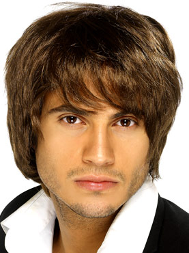 Boy Band Wig Brown
