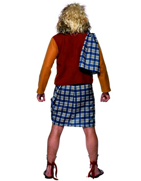 Adult Brave Scotsman Costume - Back View