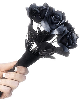 Corpse Bride Black Rose Bouquet