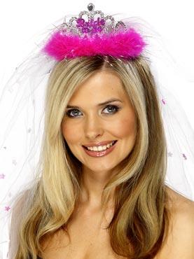 Bride-To-Be Tiara Fuchsia