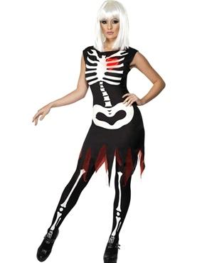 Adult Bright Bones Glow in the Dark Costume Thumbnail