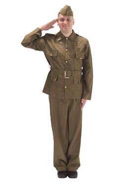 Adult British WW2 Soldier Costume Thumbnail