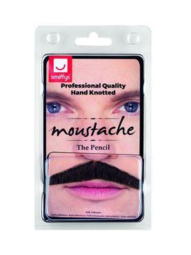 Brown Pencil Moustache - Back View