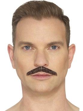 Brown Pencil Moustache