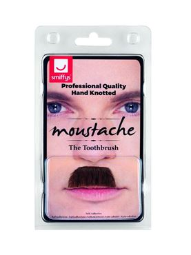 Brown Toothbrush Moustache - Back View