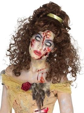 Brown Zombie Golden Princess Wig