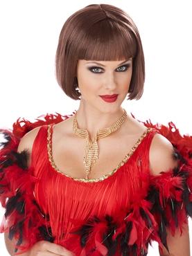Brunette Classic Flapper Wig