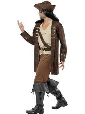 Adult Buccaneer Costume - Back View