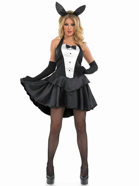 Adult Bunny Hostess Girl Costume - Back View