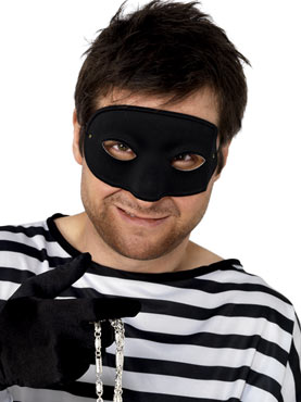 Burglars Eye Mask Black Satin