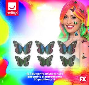 Butterfly 3D Sticker Set - Back View