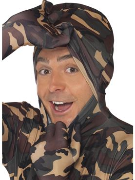 Adult Camouflage Second Skin Costume - Side View