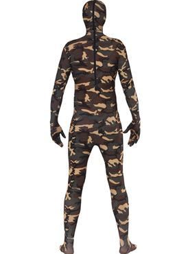 Adult Camouflage Second Skin Costume - Back View