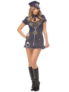 Adult Candy Cop Deluxe Costume