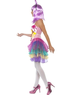 Adult Candy Queen Katy Costume - Side View