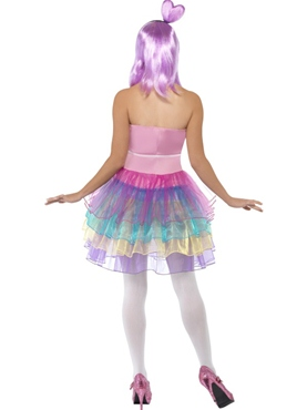 Adult Candy Queen Katy Costume - Back View