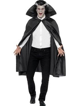 Adult Black Fabric Vampire Cape