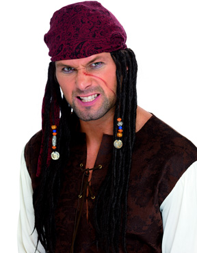 Adult Captain Pirate Wig