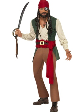 Adult Carribean Drunken Pirate Costume