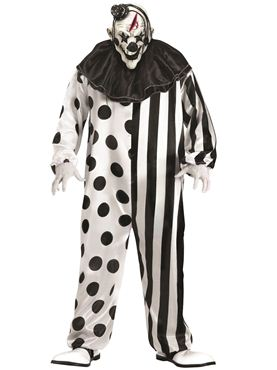 Adult Plus Size Killer Clown Costume