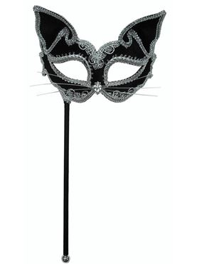 Cat Mask on Stick