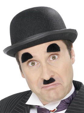 Chaplin Tash And Eyebrows Set Black