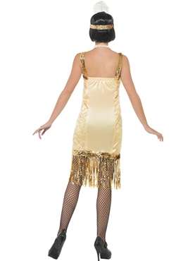 Adult Charleston Flapper Costume - Side View