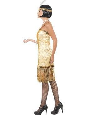 Adult Charleston Flapper Costume - Back View