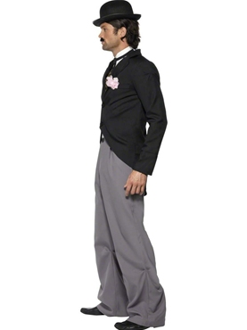 Adult Charlie Chaplin 1920's Star Costume - Back View