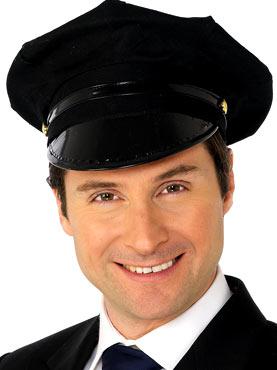 Chauffeur Hat Black
