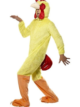 Adult Chicken Costume - Back View
