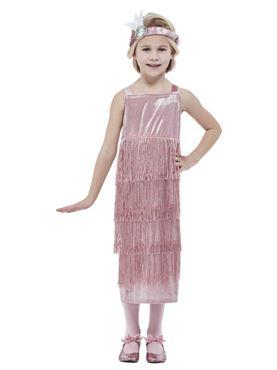 Child 20s Pink Flapper Costume
